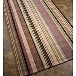 Hand-woven Grey Wool Area Rug (3'6 x 5'6)