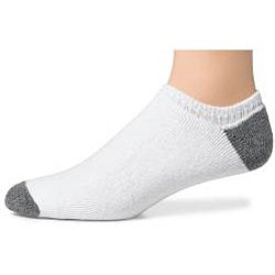 Hanes Classics Men's White Cotton-blend Extra Low-cut Socks