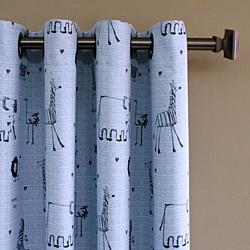 Animal Print 84-inch Grommet Curtain Panel - Thumbnail 1