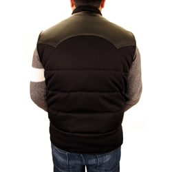Hudson Outerwear Men's Big and Tall Cotton Leather Yoke Quilted Vest - Thumbnail 1