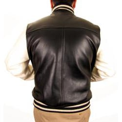 Hudson Outerwear Men's Big and Tall Leather Varsity Jacket - Thumbnail 1