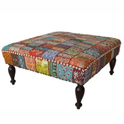 Shop Nuloom Handmade Casual Living Patchwork Ottoman