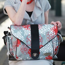 jj cole myla diaper bag in cherry lotus free shipping today. Black Bedroom Furniture Sets. Home Design Ideas
