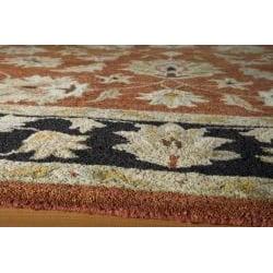 Hand-tufted Goa Rust Wool Rug (5' x 7'9) - Thumbnail 1