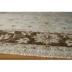 Hand-tufted Goa Brown Wool Rug (8' x 10') - Thumbnail 1