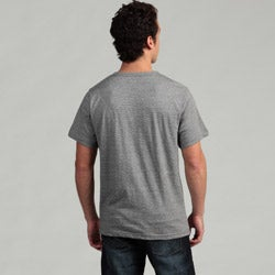 Burnside Men's Grey V-neck Tee