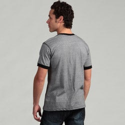 Burnside Men's Black V-neck Tee - Thumbnail 1