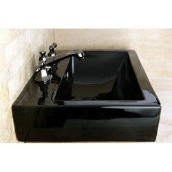 Black Vitreous China Rectangular Vessel Bathroom Sink Free Shipping Today