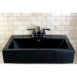 Vitreous China Black Rectangular Vessel Bathroom Sink Free Shipping Today