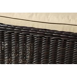 RST Resort Collection Espresso Rattan Patio Chaise Lounger - Thumbnail 1