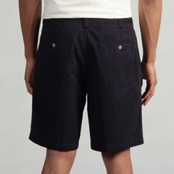 Geoffrey Beene Men's Double Pleated Shorts