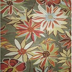 Antoinette Hand-tufted Olive Wool Rug (7'10 x 11')