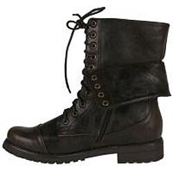 Neway by Beston Women's 'legend-03' Brown Combat Boots