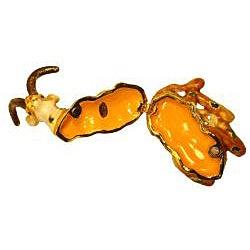 Cristiani Antelope Gold-plated Pewter Crystal Trinket Box