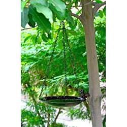 Copper Finish 14-inch Hanging Birdbath