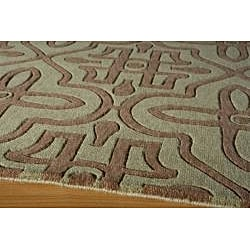 """Power-Loomed Moresque Sage Rug (8'0""""x10'0"""") - Thumbnail 1"""