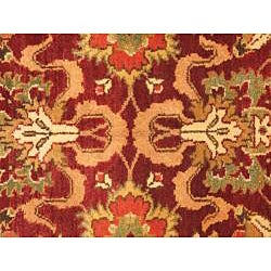 Hand Knotted Maharaja Finest Red Wool Rug (4' x 6')