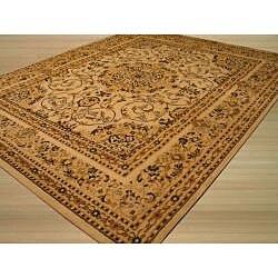 Beige Traditional Oriental Esfahan Rug (5'3 x 7'3) - Thumbnail 1