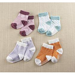 Baby Aspen Croc in Socks Baby Socks Gift Set - Thumbnail 1