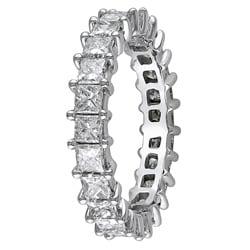 Miadora 18k White Gold 3ct TDW Diamond Eternity Ring (H-I, SI1-SI2) - Thumbnail 1