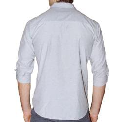 191 Unlimited Men's Grey Heathered Woven Shirt