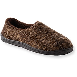 Muk Luks 'Neal' Brown Cable Knit Slippers - Thumbnail 1