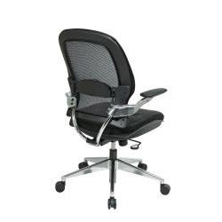 Office Star Products Professional Leather Seat Air Grid Chair - Thumbnail 1