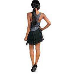 Stanzino Women's Gray/ Black Ruffled Skirt Dress
