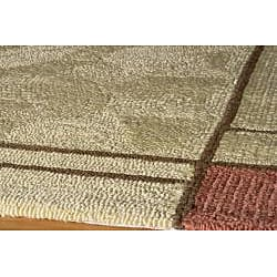 South Beach Tan Wright Colorblocked Indoor/Outdoor Rug (3'9 x 5'9)