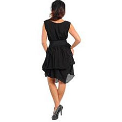 Stanzino Women's Black Gathered Skirt Dress