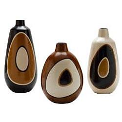 Chulucanas Circles Short Mouth Medium Vase (Peru)