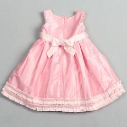 Donita Girl's Ruffle Hemmed Dress - Thumbnail 1
