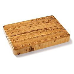 Proteak 311 Teak Cutting Board Rectangular Chopping Block with Hand Grip