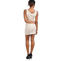Stanzino Women's Cream Beaded Ruched Dress - Thumbnail 1