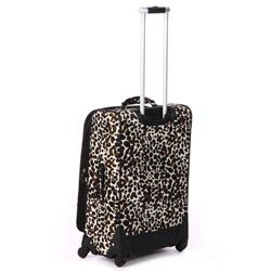 Nicole Miller 2436 'Camo Cheetah' 4-piece Expandable Spinner Luggage Set - Thumbnail 1