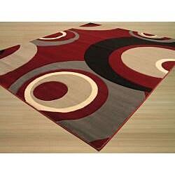 Dunes Red/ Grey Rug (7'10 x 9'10)