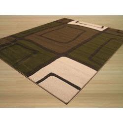 Tangir Green/ White Rug (7'10 x 9'10) - Thumbnail 1