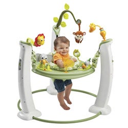 Evenflo Exersaucer Jump and Learn Stationary Jumper in Safari Friends - Thumbnail 1