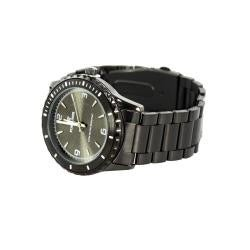 Fortuner 'Accent' Men's Black Stainless Steel Watch