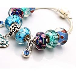 Truly In Love Collection: Blue Azure Edition Charm Bracelet