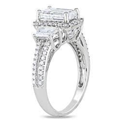 Miadora 14k White Gold 2 1/2ct TDW Emerald-cut Diamond Ring