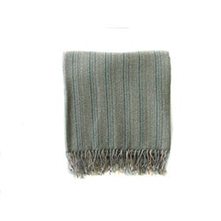 KPA Cashmere Green Cashmere/ Wool Stole Wrap