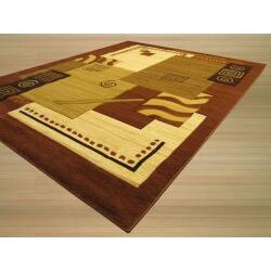 Hand-carved Modern Design Lotus Ivory Rug (5'3 x 7'3) - Thumbnail 1