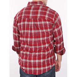 Farmall IH Men's Big/Tall Red Plaid Flannel Shirt - Thumbnail 1