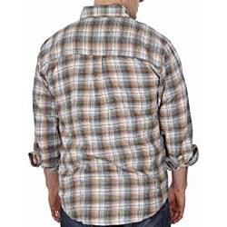 Farmall IH Men's Big/Tall Blue Plaid Flannel Shirt