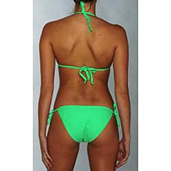 Island World Junior's Green Two-piece Bikini Swimsuit - Thumbnail 1