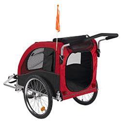 'Large' Red Comfy Dog Bike Trailer/ Stroller Kit - Thumbnail 1