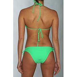 Island World Junior's Green Brazilian Cut 2-piece Bikini - Thumbnail 1