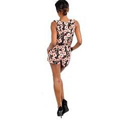 Stanzino Women's Pink/ Black Sleeveless Romper