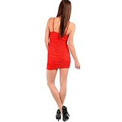 Stanzino Women's Red V-neck Dress - Thumbnail 1